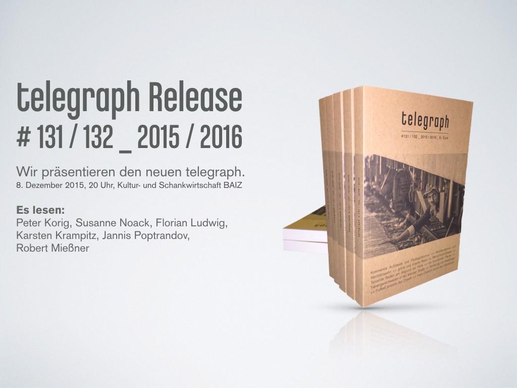 Programmheft telegraph Release #131/132