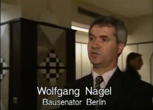 Bausenator von Berlin Wolfgang Nagel (SPD)