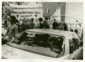 HausbesetzerInnen-Demonstration am 4. August 1990