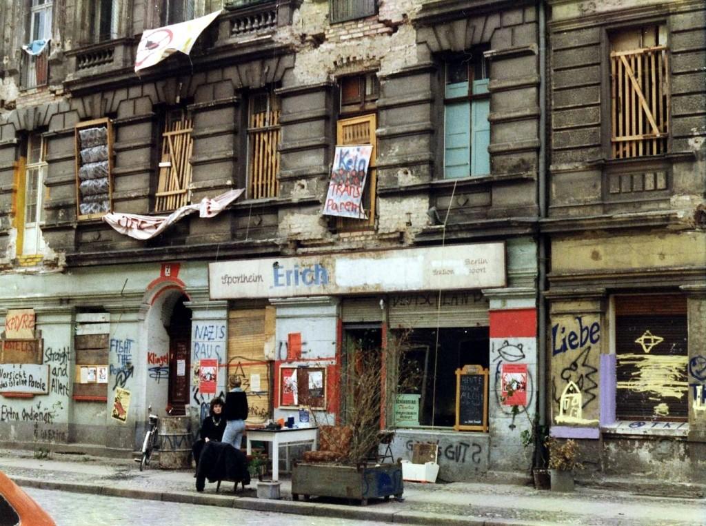 Die Mainzer Straße am 4. Juni 1990