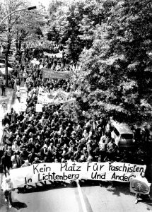 Antifaschistische Demonstration in Lichtenberg am 24. Juni 1990