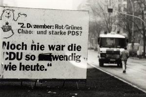 Wahlkampfplakat der CDU, November 1990; Archiv telegraph