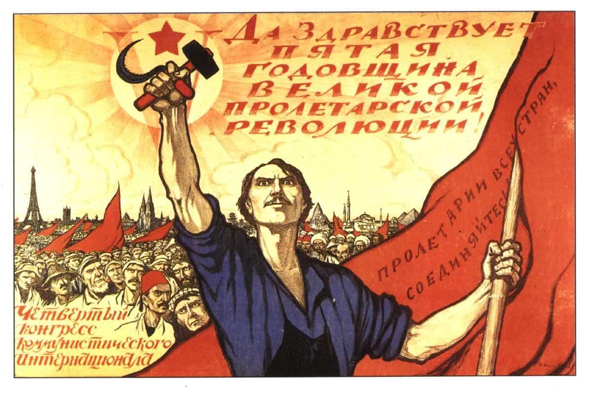 Sowjetisches Plakat der Komintern 1922