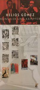 Helios Gómez – Künstler und Kämpfer - Ausstellungstafel