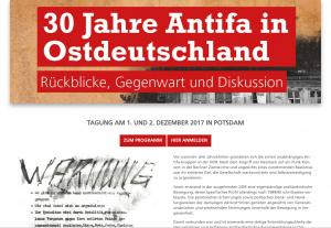 Antifaschistische Tagung am 1. und 2. Dezember 2017 in Potsdam