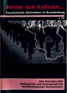 """""""Hinter den Kulissen"""" 1/1994 – Antifaschistische Recherche-Zeitschrift für Brandenburg"""