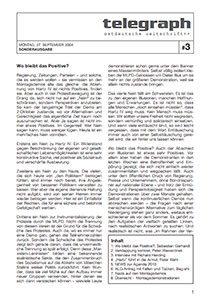 telegraph Sonderausgabe 03 _ 2004 Hartz 4 - Proteste