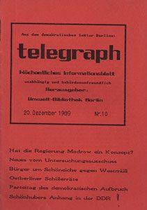 telegraph 10/1989 (#10) vom 20.12.1989