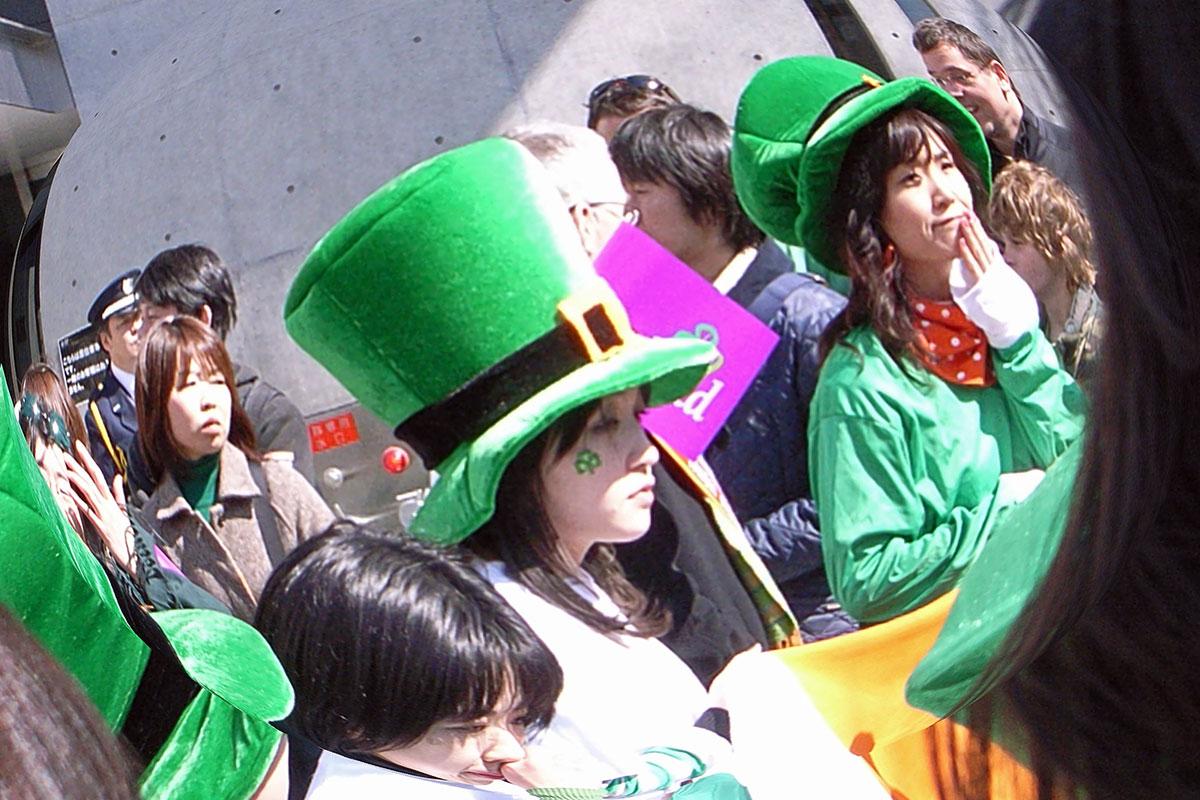 St Patrick's Day Parade in Omotesando, 18. März 2007
