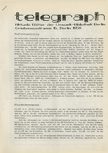telegraph 1/1989 (#01), vom 9.10.1989