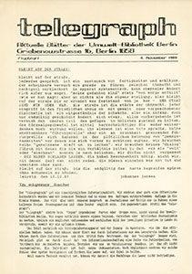 telegraph Flugblatt - 04.11.1989