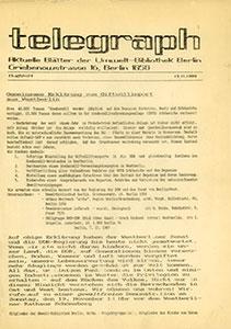 telegraph Flugblatt – 13.11.1989