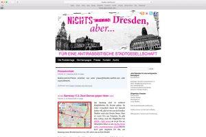 Webseite von Dresden Nazifrei