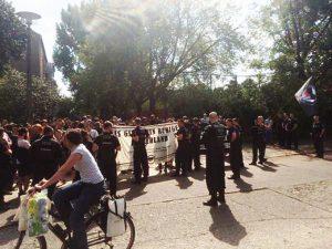 Kundgebung gegen einen NPD-Aufmarsch in Berlin Pankow imAugust 2015, Foto: AG TusT/telegraph