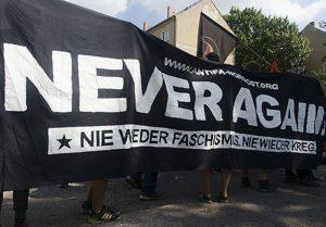 Never again. Demotraspi der Antifa Nordost (NEA) Berlin, Foto: AG TusT/telegraph