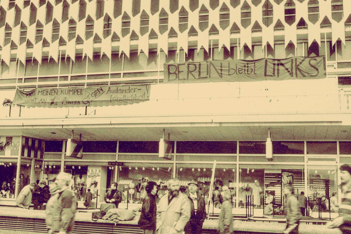 Antifaaktion Ostberlin Alex Anfang 1990