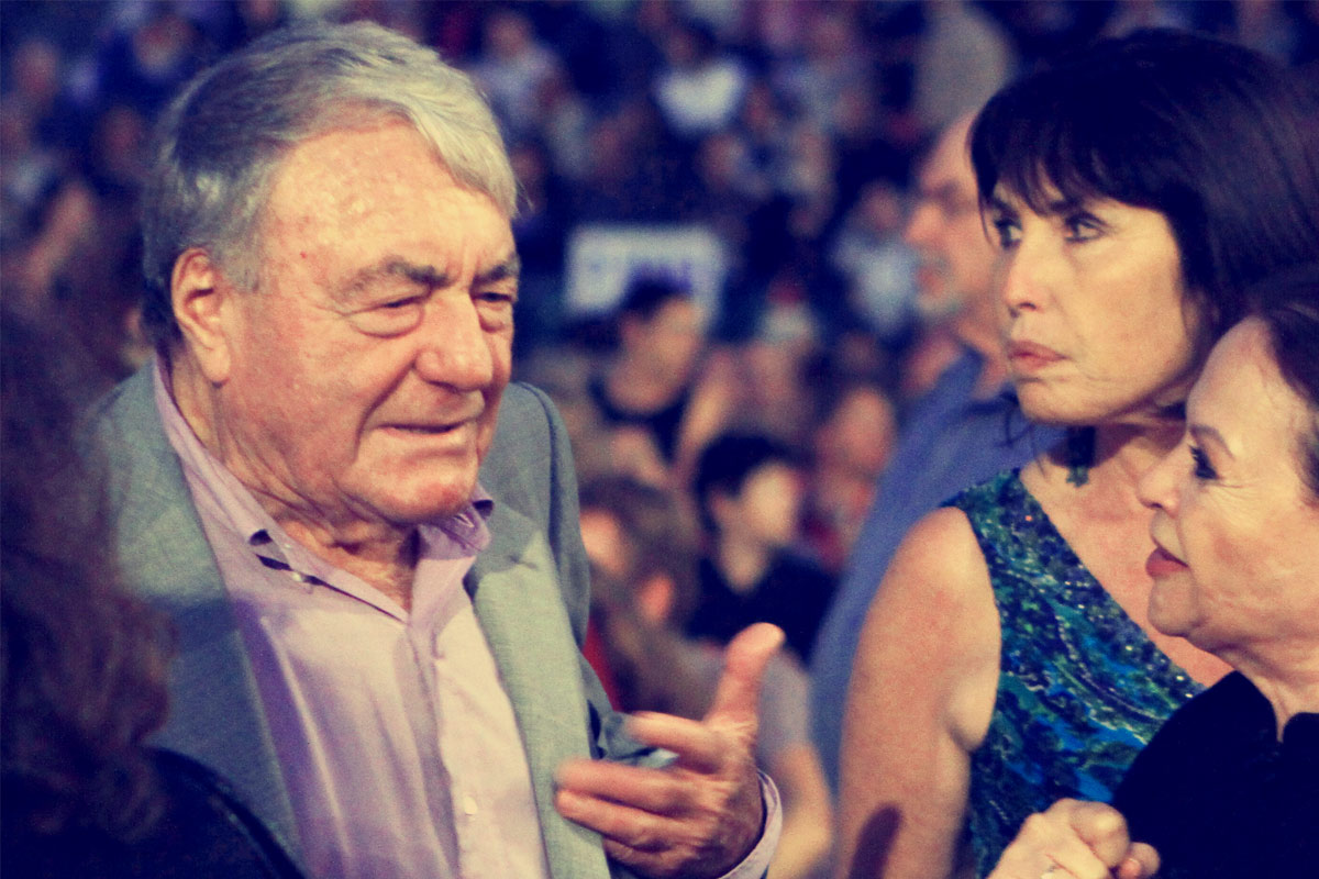 Gila Almagor and Claude Lanzmann At Jerusalem Film Festival