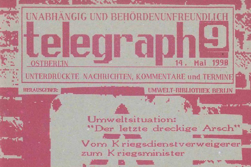 telegraph 09/1990, vom 14. Mai - Beitragsbild
