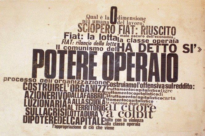 Nanni Balestrini, Potere Operaio (1971), zuletzt gezeigt in seiner interdisziplinären und transnationalen Ausstellung Ottobre Rosso, Fondazione Mudima, Mailand, Okt./Nov. 2017 (Foto: Archiv JS)