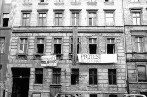Besetzung Lottum 10a, Ostberlin, am 13.1.1990