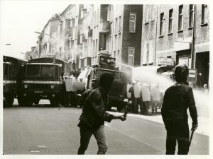 Antifa-Demo in Osberlin-Lichtenberg, am 24. Juni 1990