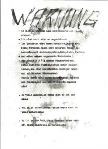 Flugblatt der Antifa Potsdam vom 6. November 1987