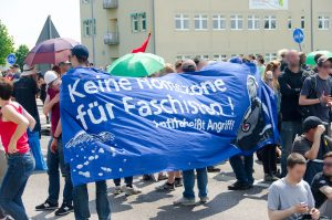 Antifaschistische Blockaden in Neuruppin/Brandenburg am 6. Juni 2015, Foto: AG Timur und sein Trupp 2012