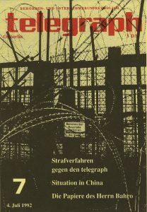 Titelblatt telegraph 7/1992