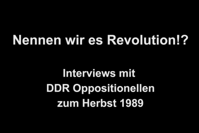 Nennen wir es Revolution!?