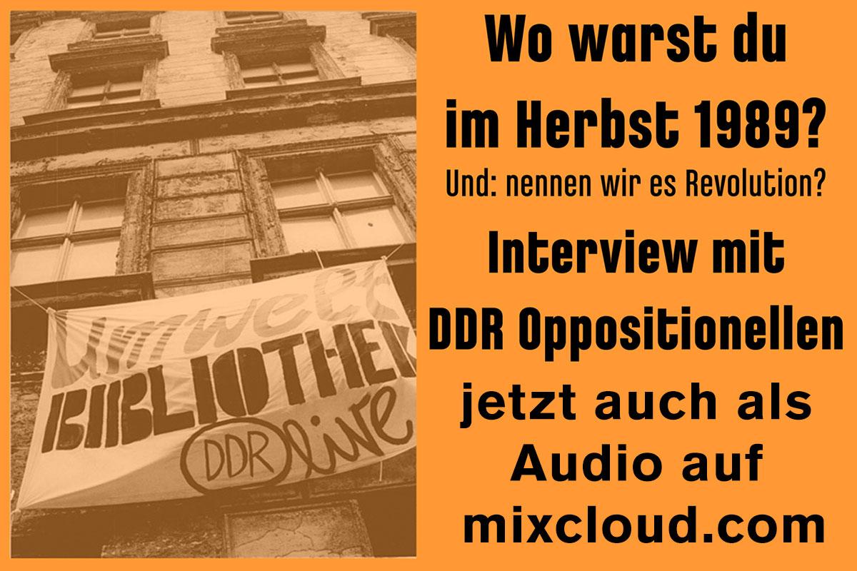 Interviews auf Mixcloud