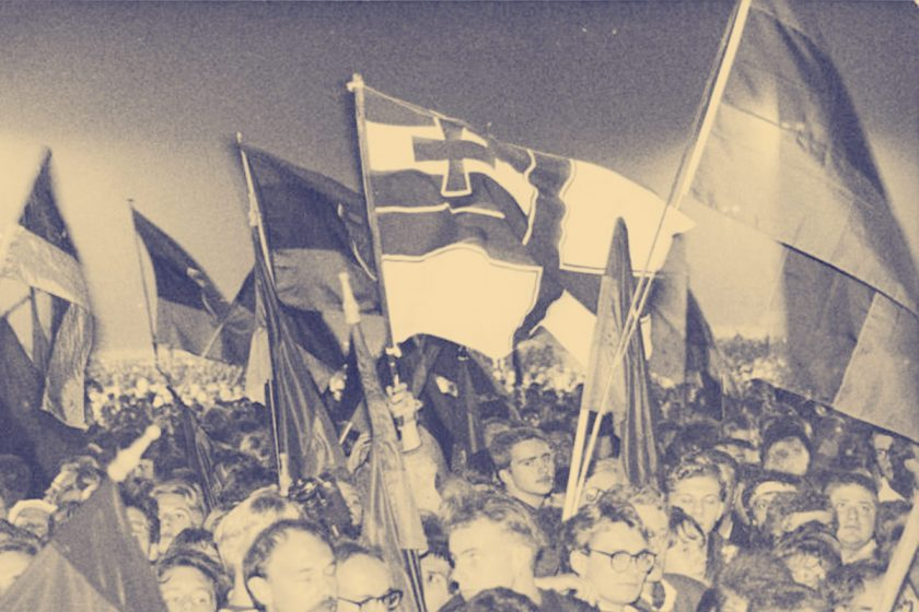 Berlin, Vereinigungsfeier 3. Oktober 1990, Bundesarchiv, Bild 183-1990-1003-004 / Grimm, Peer / CC-BY-SA 3.0